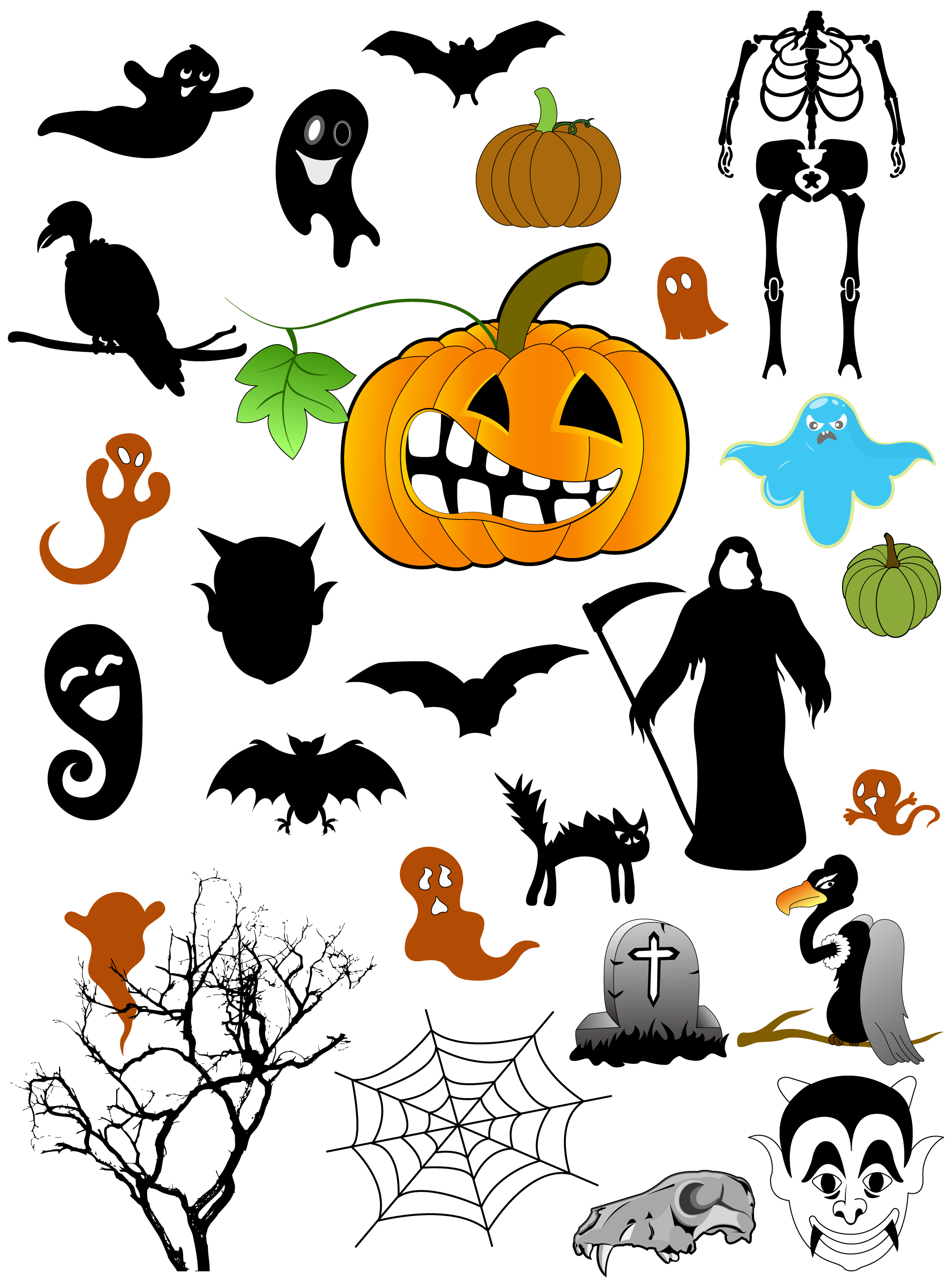 Halloween Brushes Vectors Shapes Amp Picture