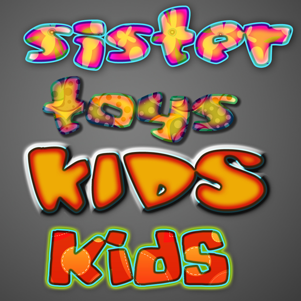kids text styles