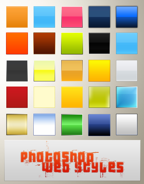 Photoshop web layer style