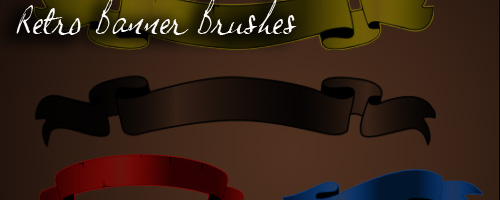 retro banner brushes