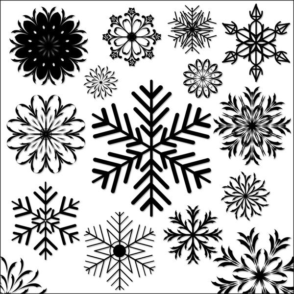 snowflakes shapes