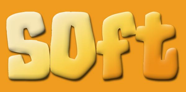 soft text effect