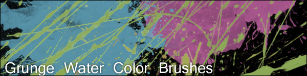 grunge color brushes