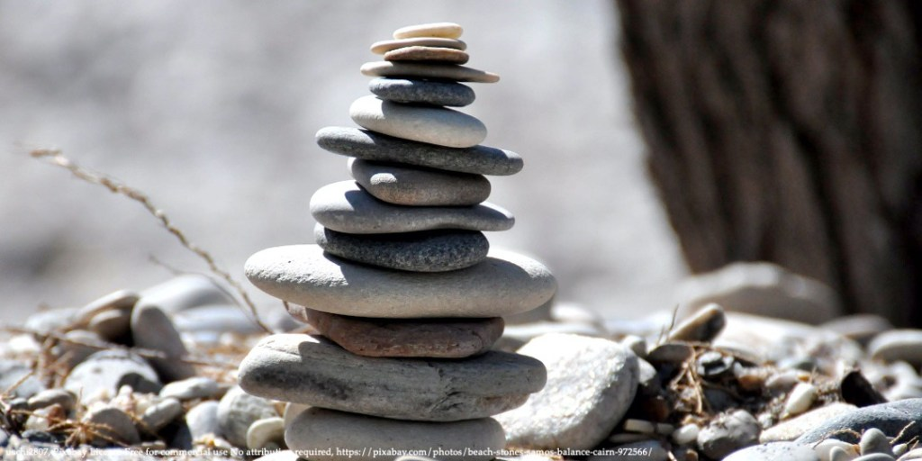 Image of balancing stones representing Somalia as a fragile state and its reforms