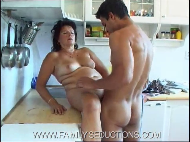 FamilySeductions.com SiteRip - Mother-Son Incest Roleplay Sex - Mother Masturbating In The Kitchen, Gets Caught Be Her Own Son. It All Ends With Forbidden Incest Sex