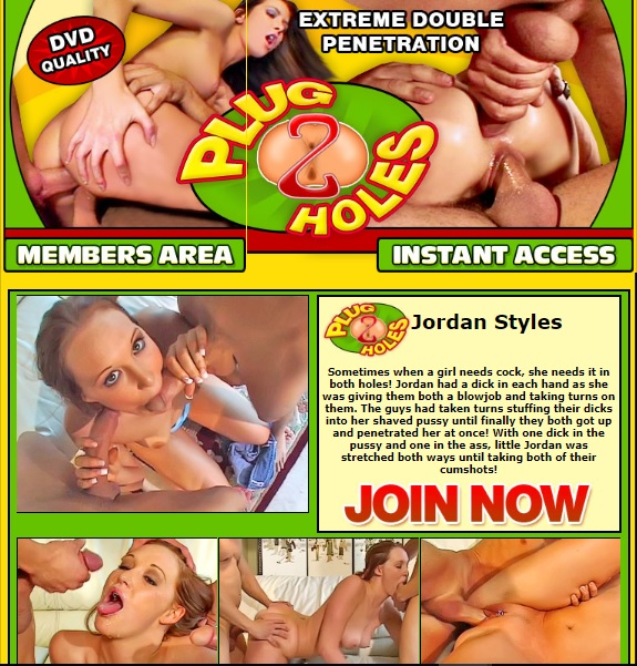 Plug2Holes.com SiteRip - Extreme Double Penetration Videos. Hot Sluts Taking Huge Cocks In Both Holes, One In The Pussy The Other One Up Their Ass. FreePornSiteRips.com