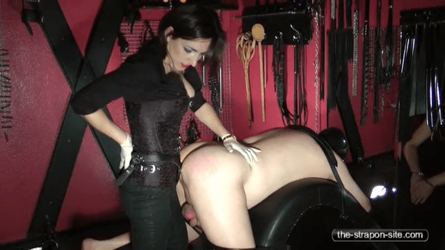 FreePornSiteRips.com - Mistress Dominating And Strapon Pegging Male Slave In Bondage