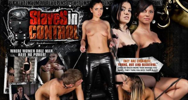 SlavesInControl.com SiteRip - Strict Mistresses Dominating Two Slaves At Once And Forcing Them To Perform All Kind Of Sexual Perversions. Whipping, Foot Worship, Strapon Fucking, BDSM...