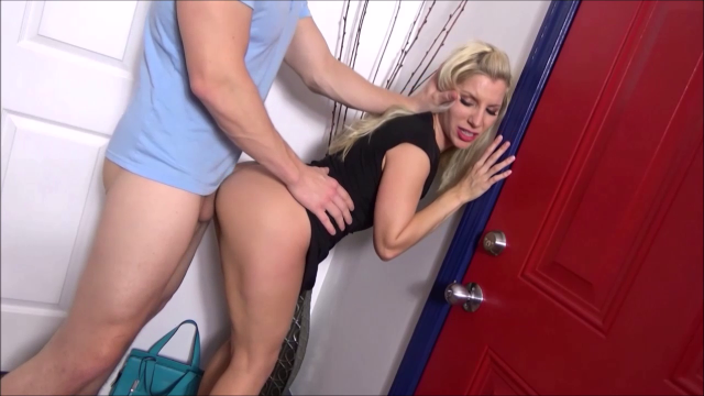 Jealous Son Catches His Hot Blonde MILF Mom Going Out On Dates With Guys She Met Online. He Wants To Have His Hot Mommy Only For Himself.