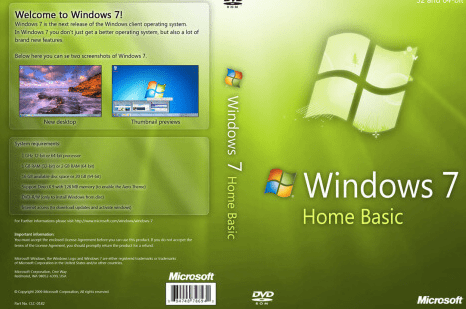 Windows 7 Home Basic Full Version Free Download ISO