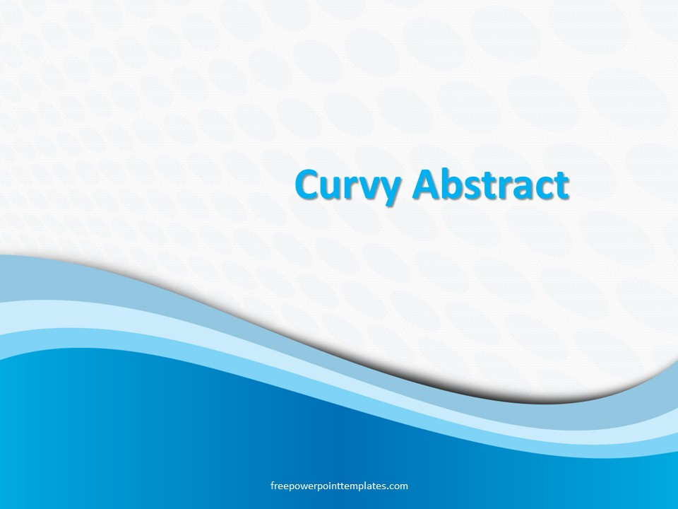 Free Blue Curvy Dots PowerPoint Template