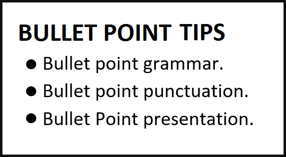 Write the Best Bullet Lists for PowerPoint Presentations