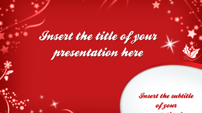 Merry Christmas Free Template Powerpoint