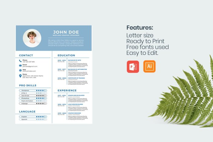 Professional Resume Templates for PowerPoint