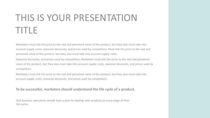 Free Minimal Presentation Template