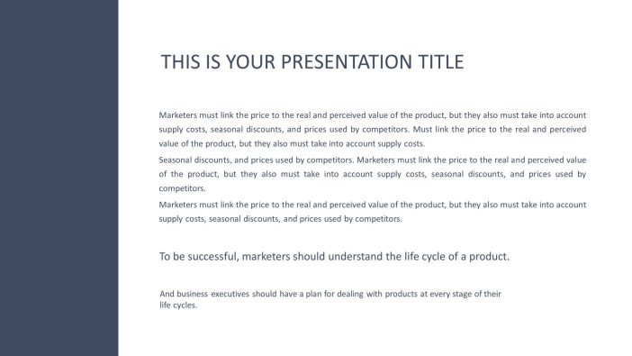 Free Minimal PowerPoint Template
