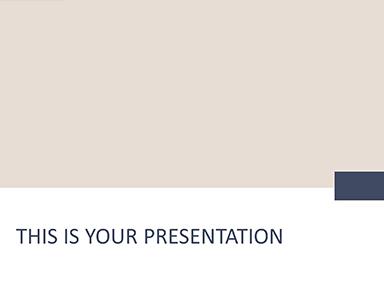 Free Minimal PowerPoint Template