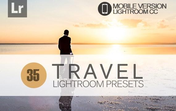 35 Travel Lightroom Mobile bundle