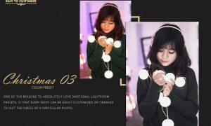 Christmas Theme Color Grading 03 Premium Lightroom,LUTs,ACR Presets