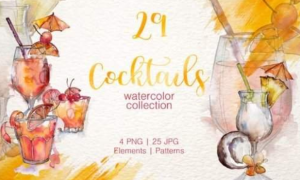 Cocktail Watercolor PNG 3514380