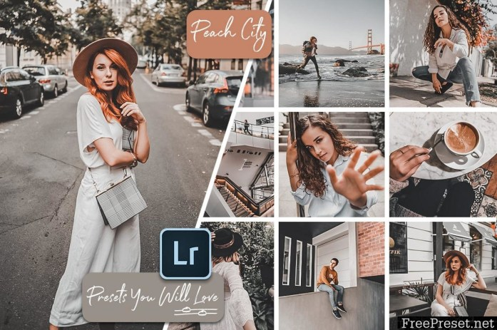 Orange and Peach Lightroom Presets Photoshop Actions and ACR