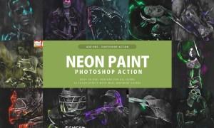 Neon Paint Photoshop Action 3397698