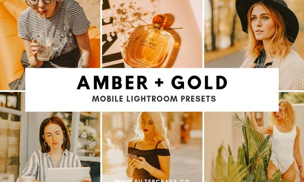 Amber + Gold Mobile Presets 3597612
