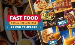 FAST FOOD - Social Media Bundle 3694729