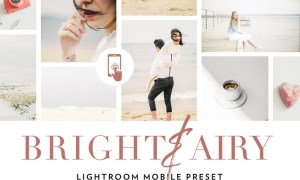 Bright and airy Lightroom Mobile Preset UVJEUQ