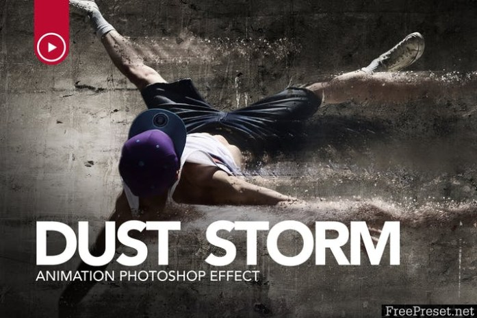 Dust Storm Animation Photoshop Action WA68R5