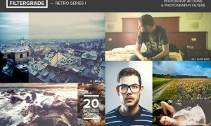 FilterGrade Retro Series I Photoshop Actions - ZWVVLK