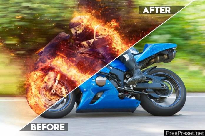 Fire Photoshop Action UMTQTQ