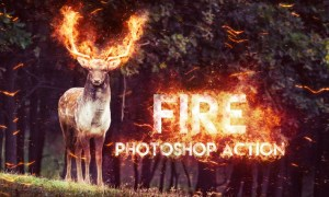 Fire Photoshop Action UMTQTQ