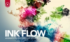 Ink Flow Animation Photoshop Action 52XSLJ