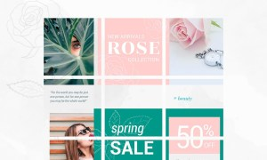 Instagram Puzzle Template - Rose 3606679