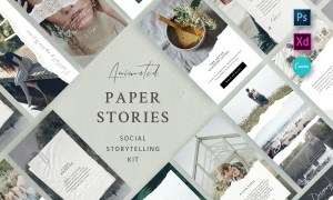 Paper Animated Stories - Social Kit 2945514