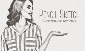 Pencil Sketch Photoshop Actions 35UX67