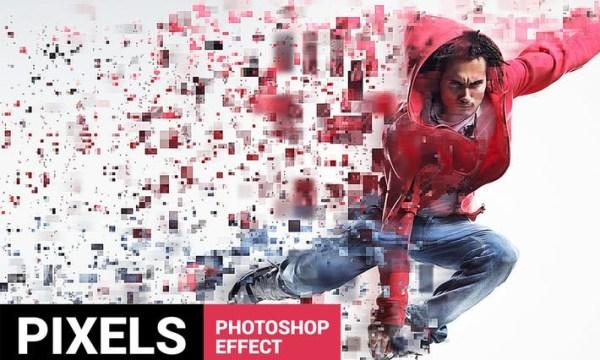 Quadrum - Pixels Breaking Photoshop Action