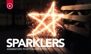 Sparklers Animation Photoshop Action GS4E9N