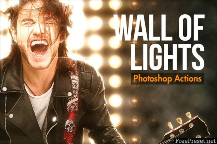 Wall Of Lights - Photoshop Actions VY43RE