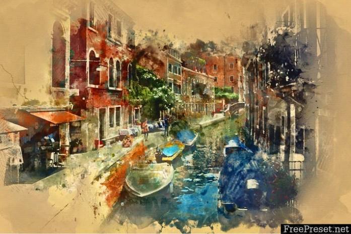 Watercolor Photoshop Action A4SE5L