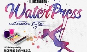 WaterPress Vector Watercolor Effects 3673683