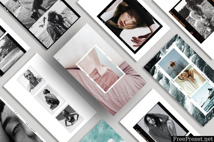 100 Film Frames & Instant Templates 3848678