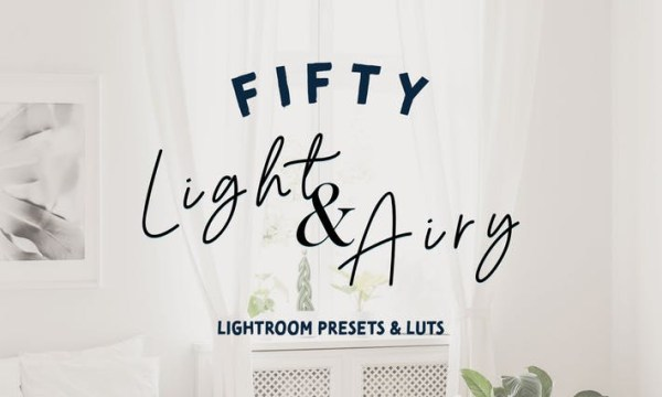50 Light Airy Lightroom Presets and LUTs