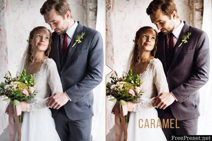 Caramel Wedding Photoshop Action B6TYSH