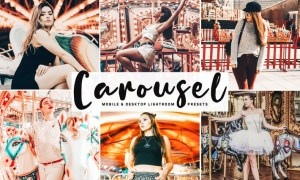 Carousel Mobile & Desktop Lightroom Presets