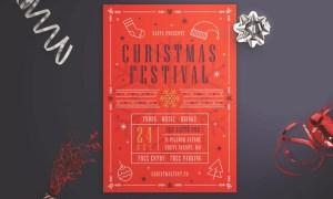 Christmas Festival Flyer JM5CPK - AI, PSD