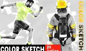 Color Sketch Photoshop Action DKQX964