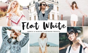 Flat White Mobile & Desktop Lightroom Presets