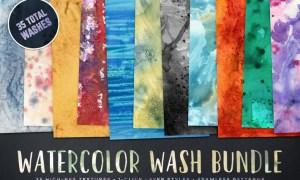 Watercolor Wash Bundle Volume 1 RKM2QE - JPG